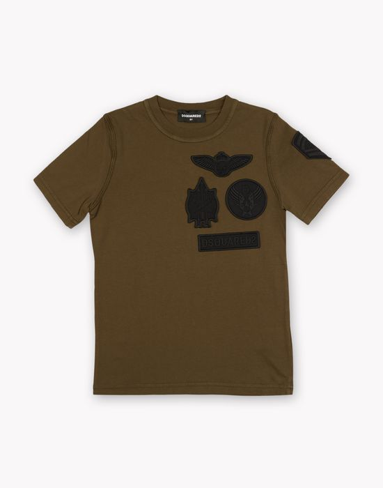 patch t-shirt tops & tees Man Dsquared2