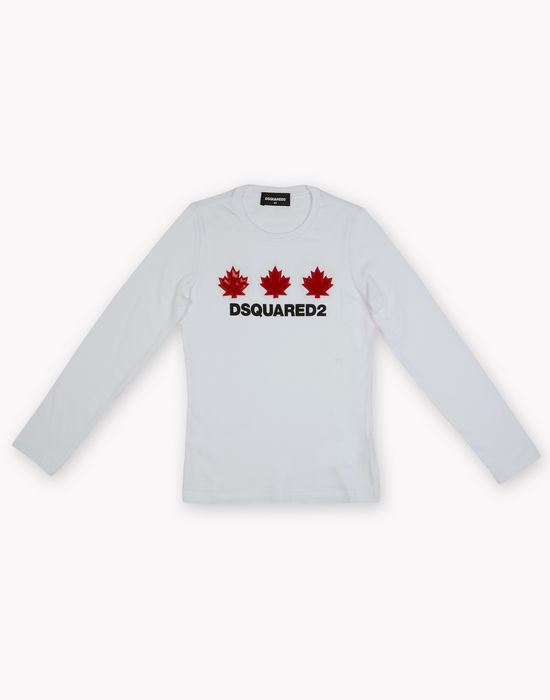 maple leaf long sleeve t-shirt tops & tees Woman Dsquared2