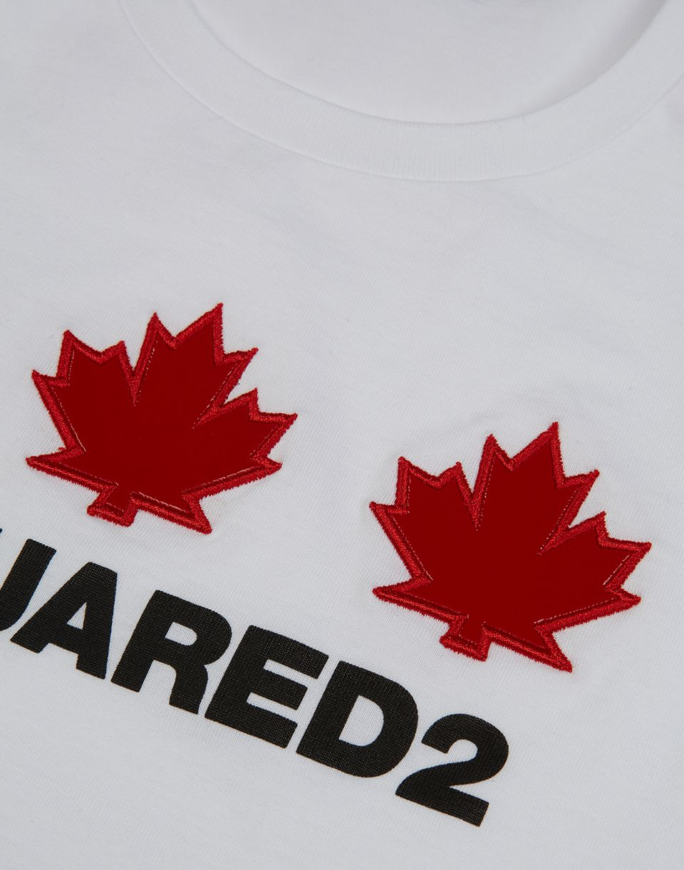 maple leaf long sleeve t-shirt tops & tanktops Damen Dsquared2