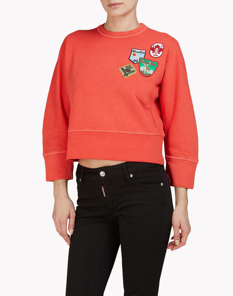 patch sweatshirt tops & tees Woman Dsquared2