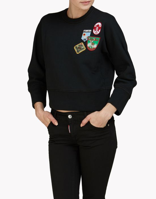 patch sweatshirt top wear Woman Dsquared2