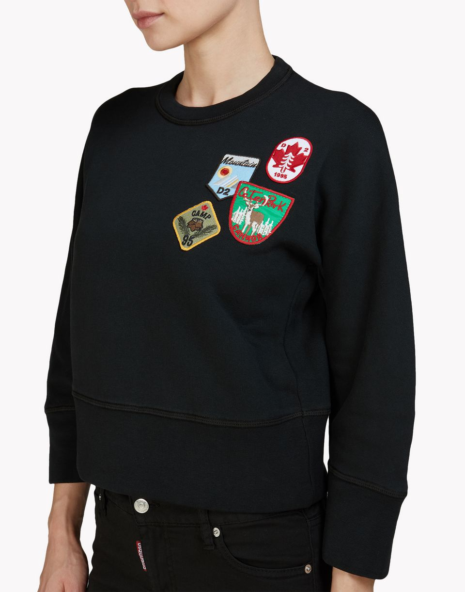 patch sweatshirt topwear Donna Dsquared2