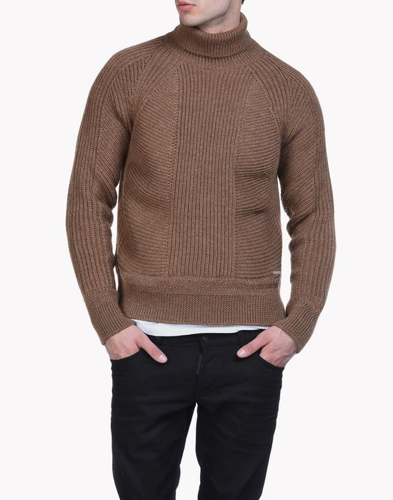 ribbed wool turtleneck pullover tops & tanktops Herren Dsquared2