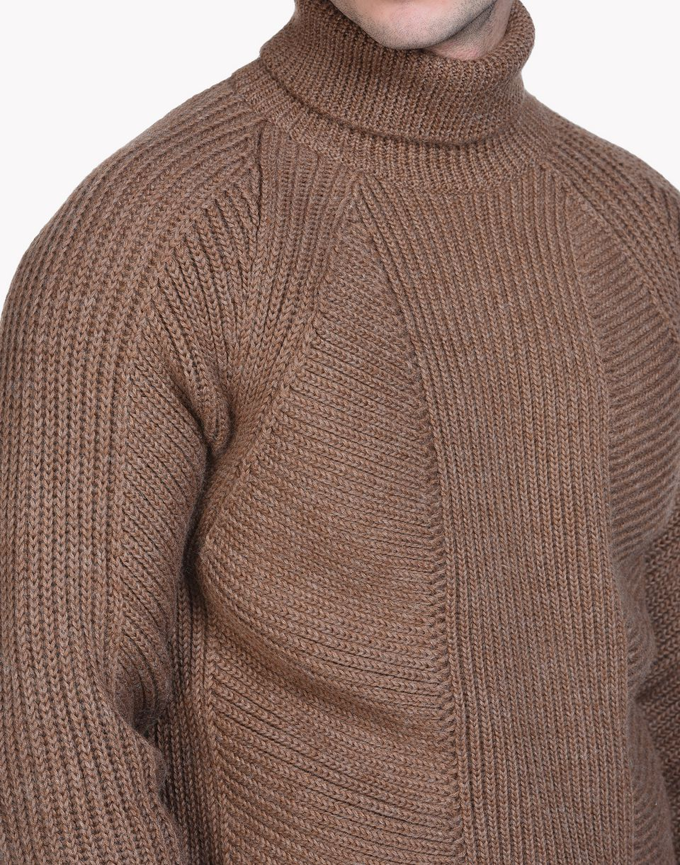 ribbed wool turtleneck pullover top wear Man Dsquared2