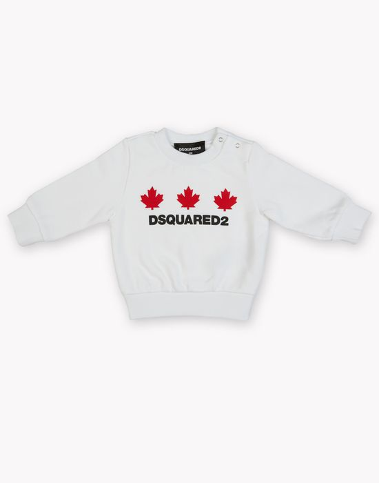 maple leaf sweatshirt top wear Woman Dsquared2