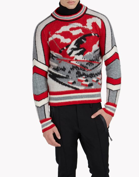 intarsia ski wool pullover top wear Man Dsquared2