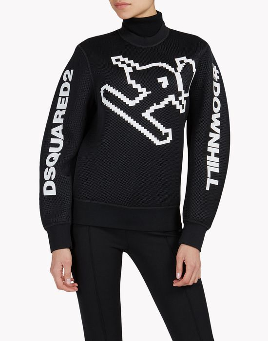 d2 ski downhill sweatshirt top wear Woman Dsquared2
