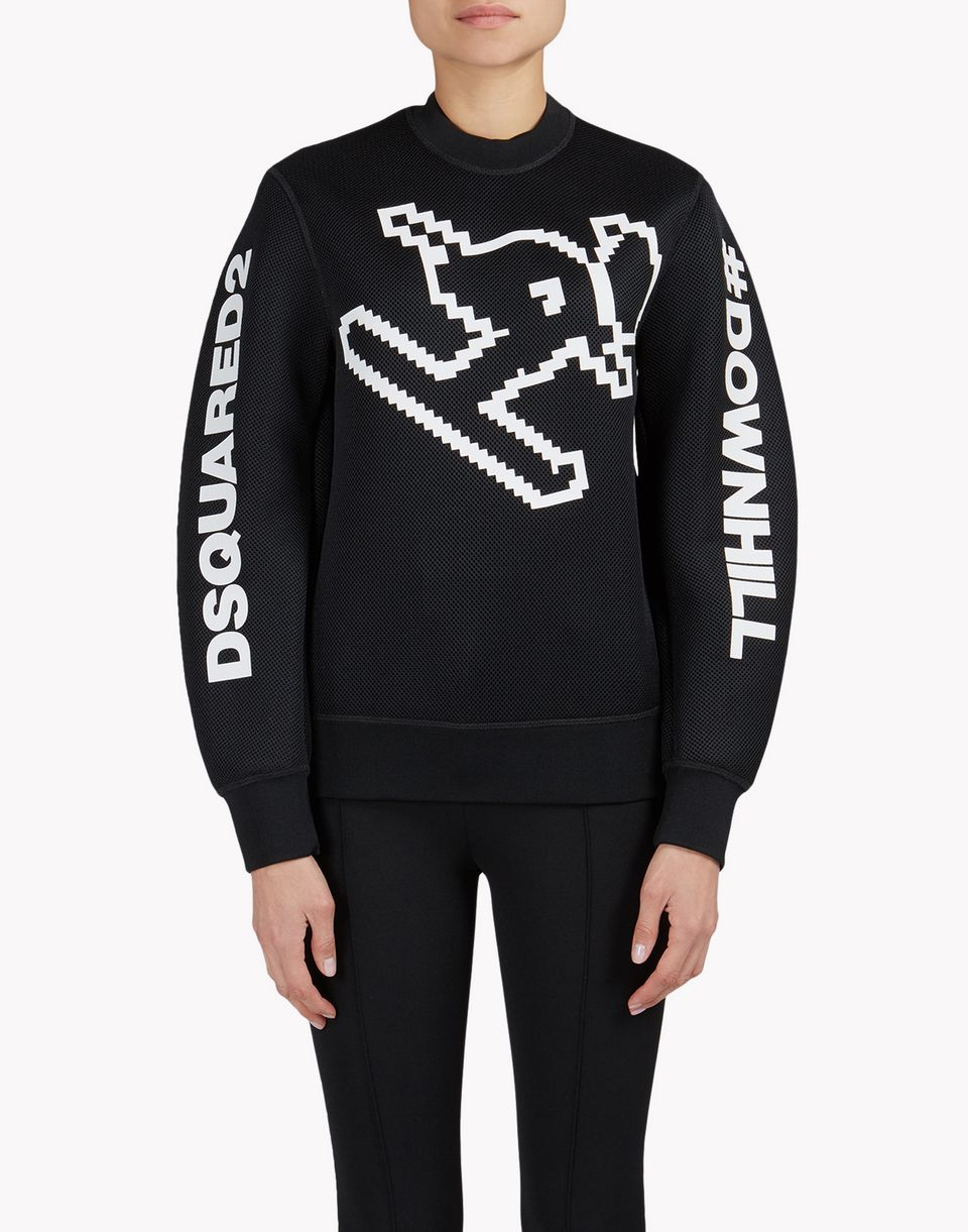 d2 technical ski motif sweatshirt tops & tees Woman Dsquared2