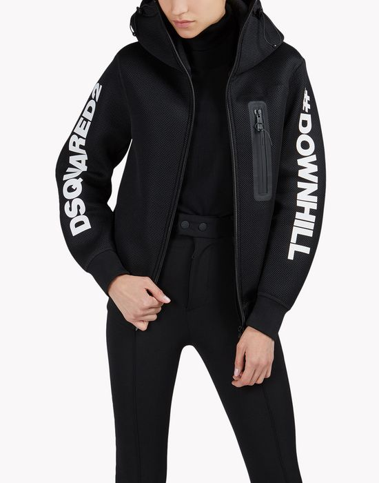 d2 technical ski sweat jacket top wear Woman Dsquared2