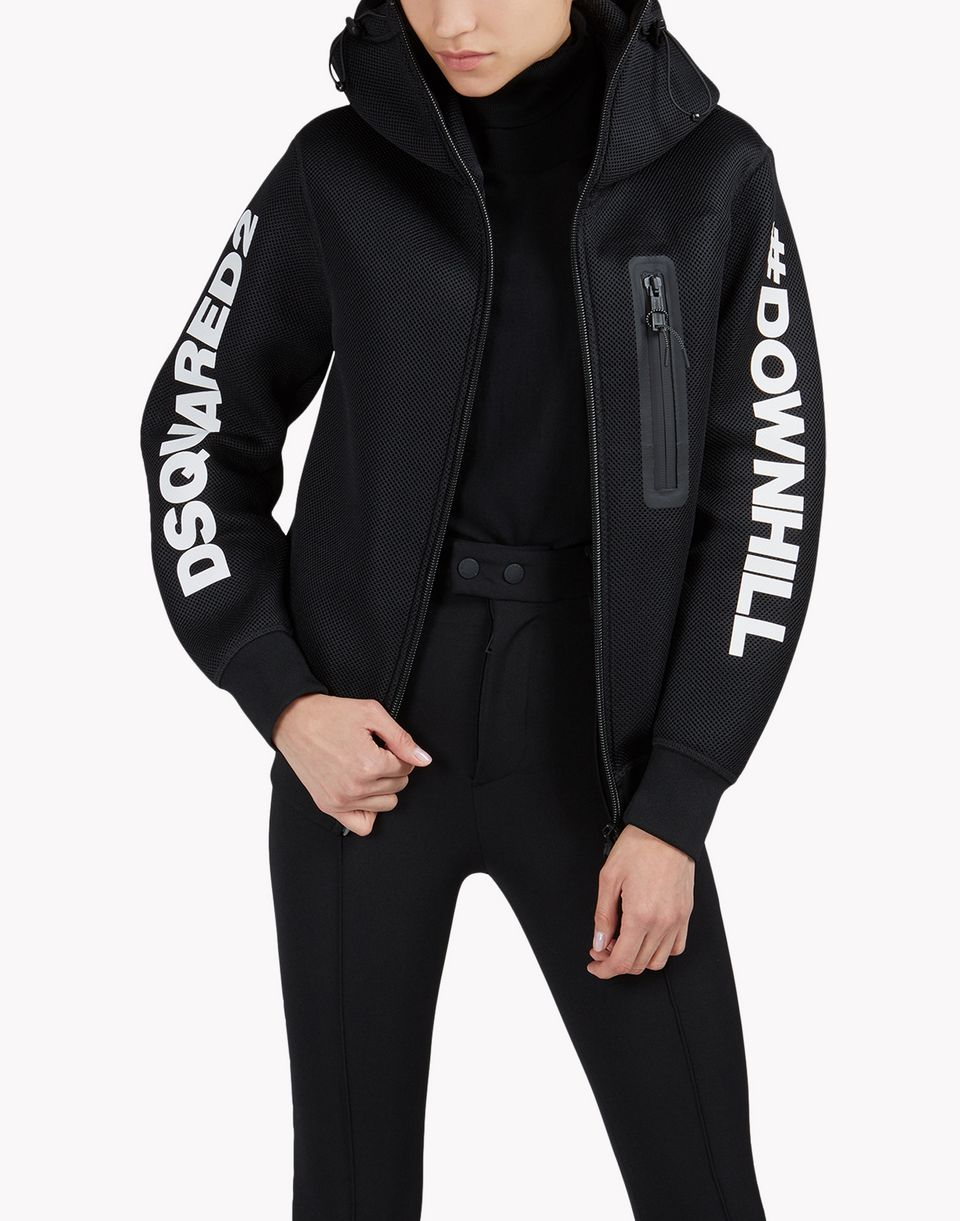 d2 ski downhill sweat jacket top wear Woman Dsquared2