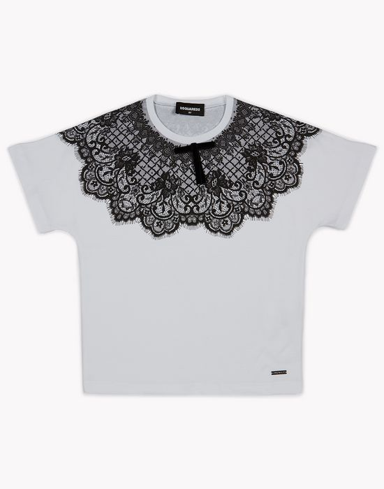 lace t-shirt top wear Woman Dsquared2
