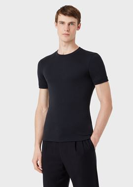 Armani T-Shirts Men cashmere crew neck t-shirt