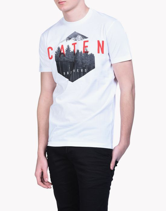 caten forest t-shirt tops & tanktops Herren Dsquared2