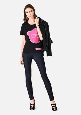 Armani T-Shirts Women pima cotton jersey t-shirt with manga bear print