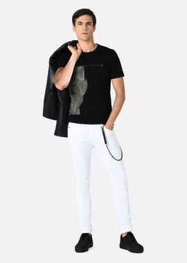 Armani T-Shirts Men crew neck t-shirt with geometric face rubber print