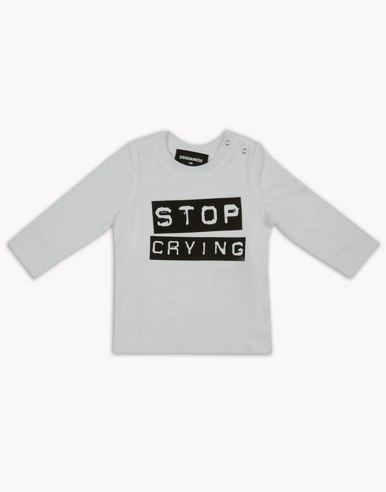 stop crying long-sleeve shirt tops & tees Man Dsquared2