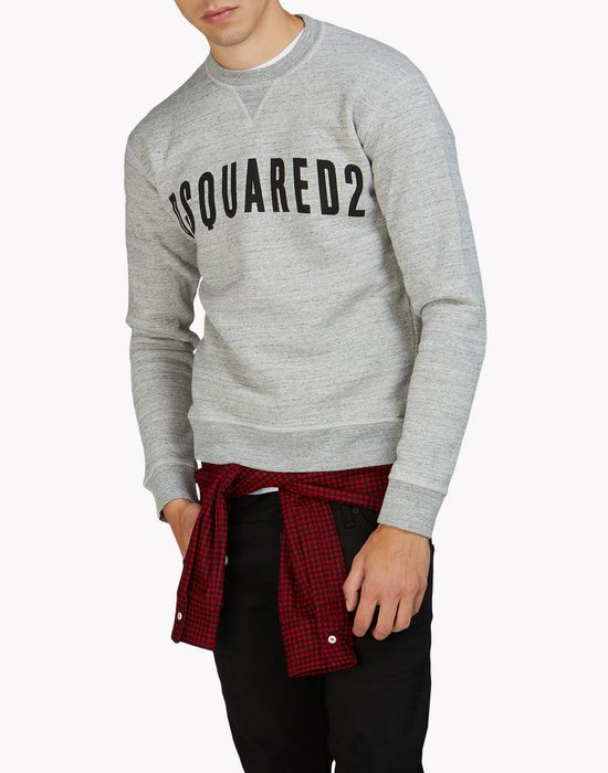 d2 check sweatshirt top wear Man Dsquared2
