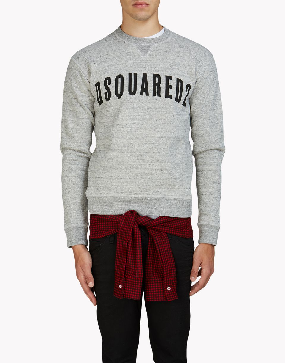 d2 check sweatshirt tops & tees Man Dsquared2