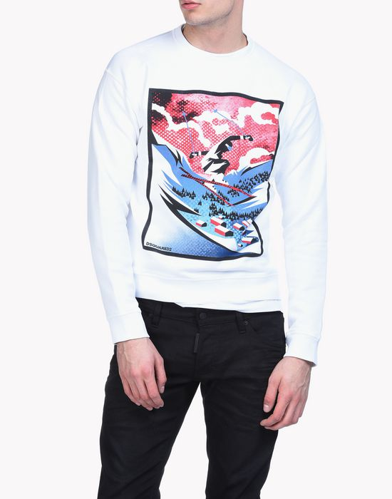 mountain skiier sweatshirt top wear Man Dsquared2