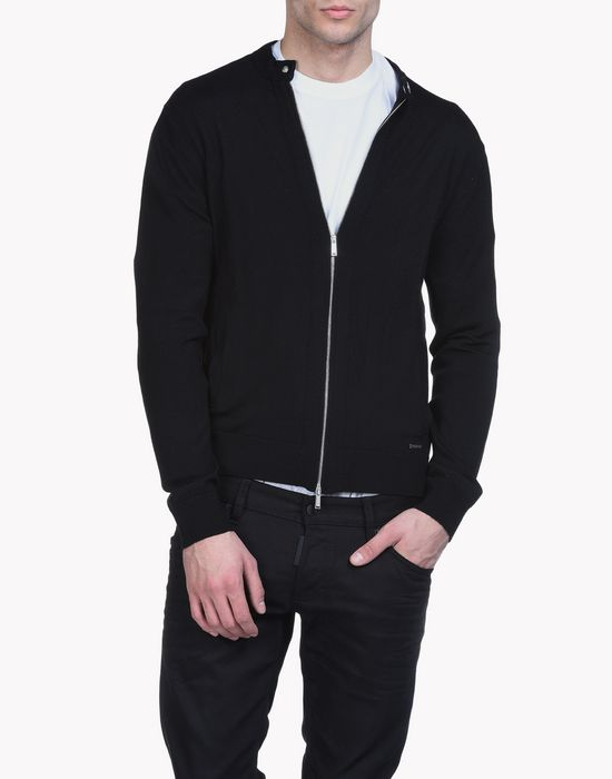 wool zip-up sweater top wear Man Dsquared2