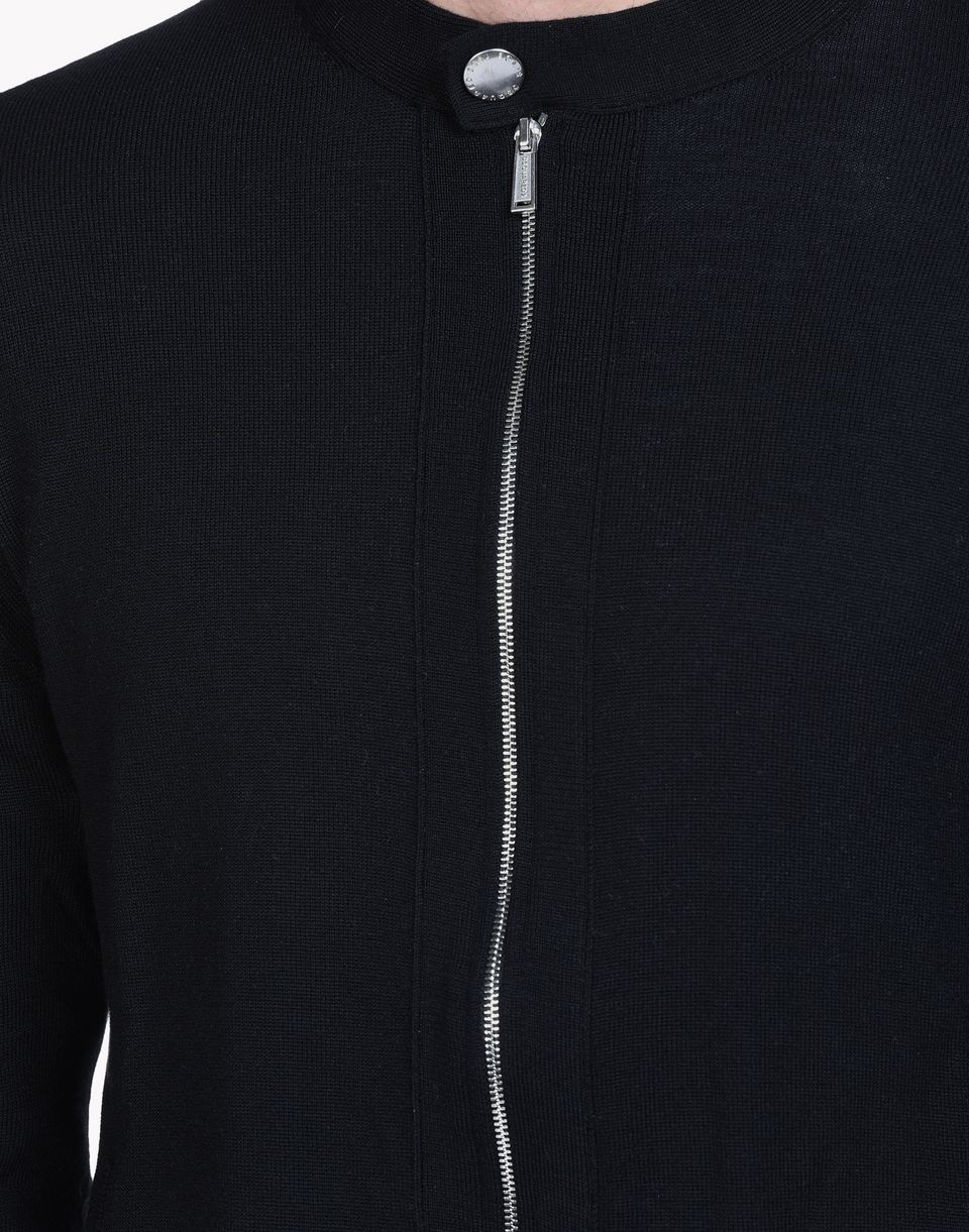 wool zip-up sweater tops & tanktops Herren Dsquared2