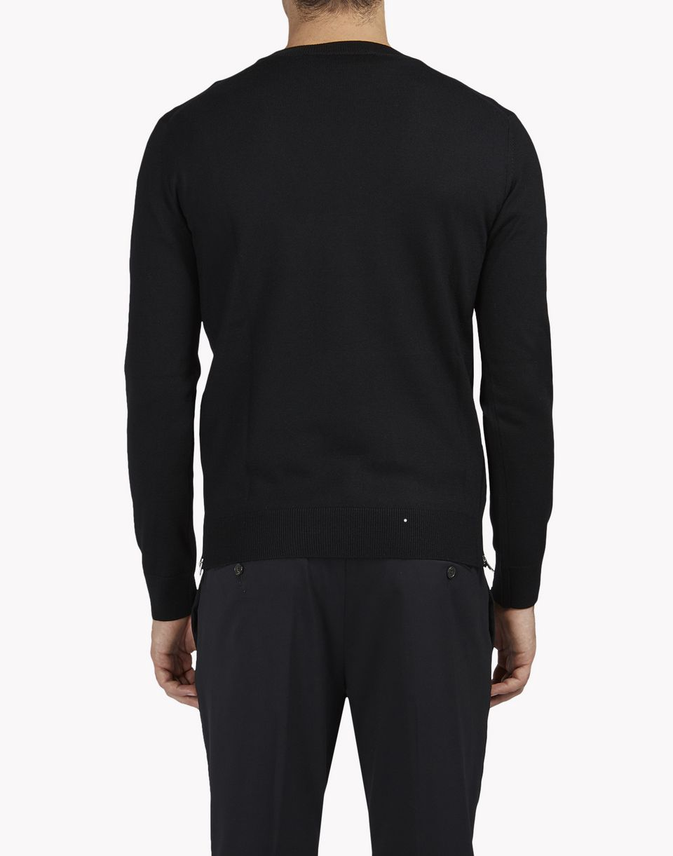 zipped crew neck pullover tops & tees Man Dsquared2