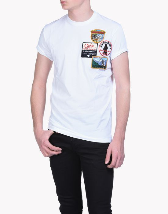 patch long cool t-shirt tops & tees Man Dsquared2