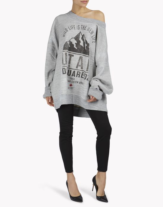 d2 utah oversize sweatshirt  tops & tees Woman Dsquared2
