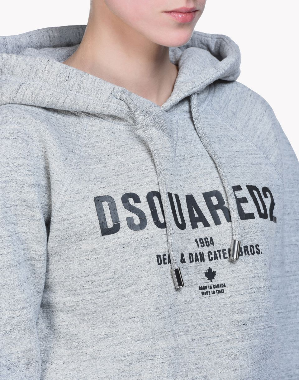 d2 puffed shoulders hoodie top wear Woman Dsquared2