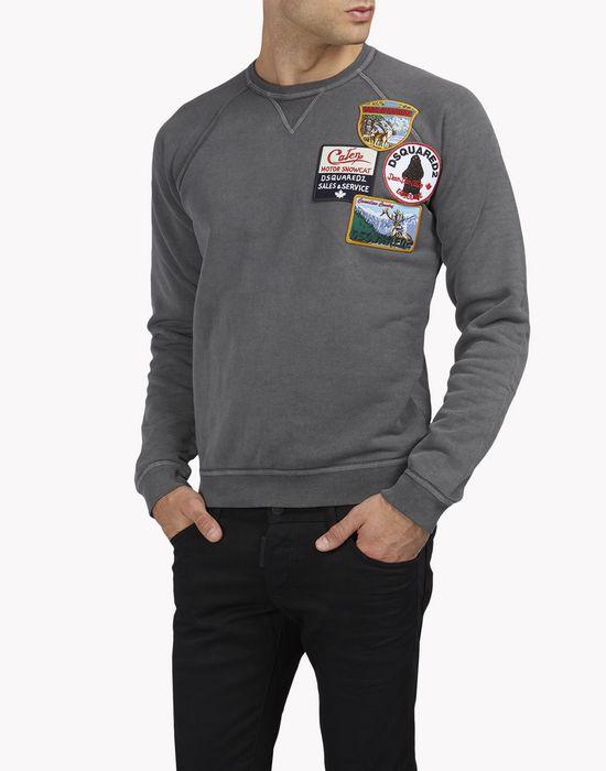 patch raglan sweatshirt tops & tanktops Herren Dsquared2