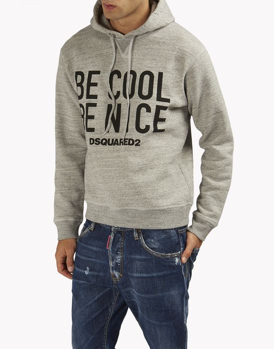be cool be nice hooded sweatshirt tops & tees Man Dsquared2