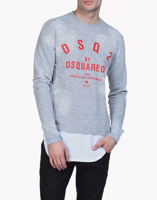 dsq2 hetero long-sleeve t-shirt top wear Man Dsquared2