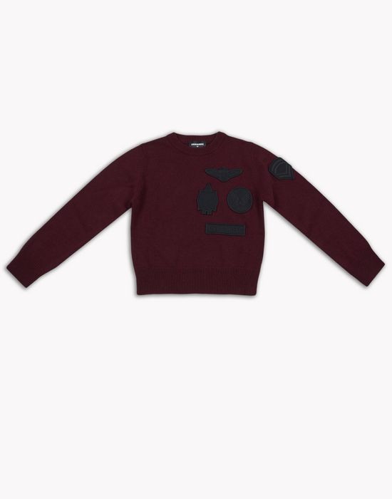 merino wool pullover tops & tees Man Dsquared2