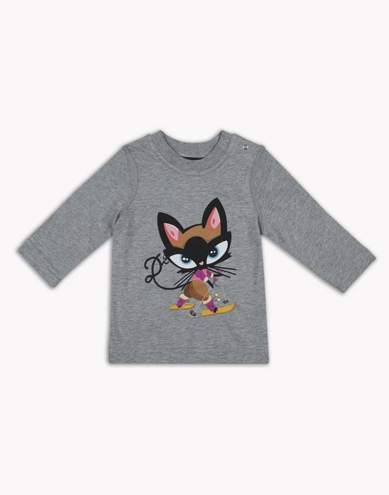 d2 kitty long-sleeve t-shirt tops & tees Woman Dsquared2