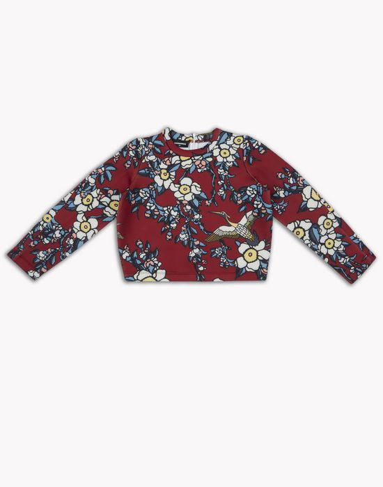cherry blossom sweatshirt top wear Woman Dsquared2