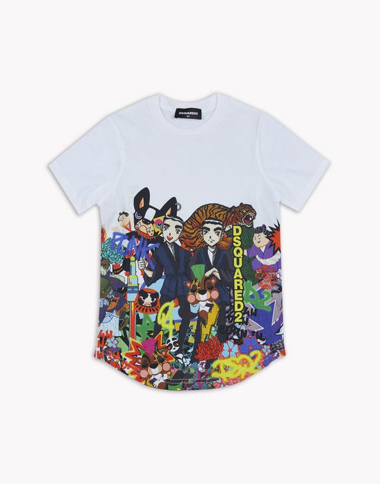 d2 manga t-shirt top wear Man Dsquared2