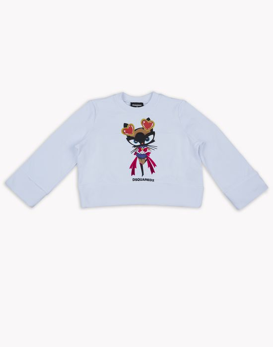 d2 kitty long-sleeve t-shirt top wear Woman Dsquared2