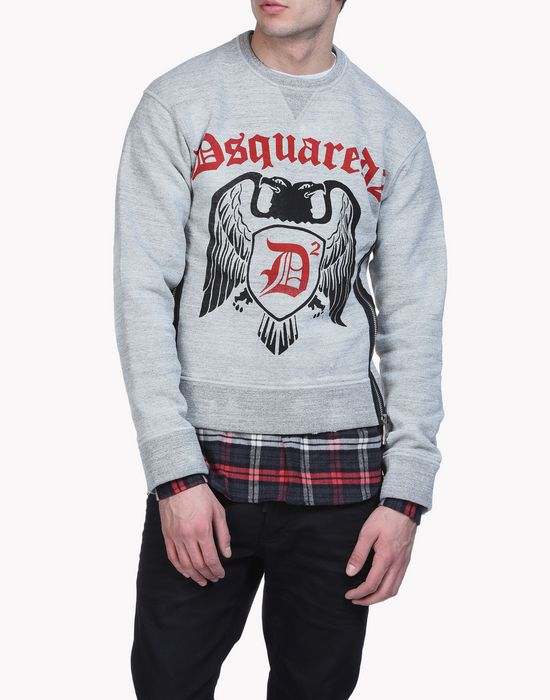 check d2 sweatshirt top wear Man Dsquared2