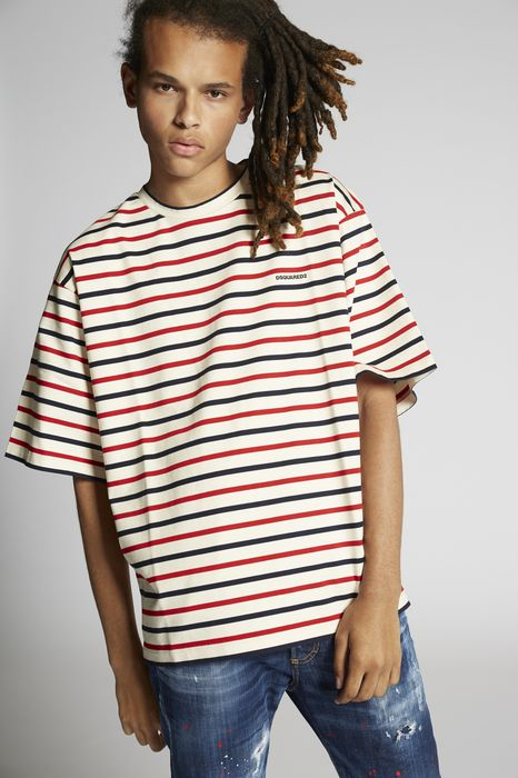 d2 striped t-shirt tops & tees Man Dsquared2