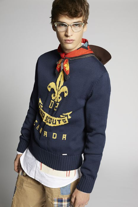 d2 bad scouts wool knit pullover top wear Man Dsquared2