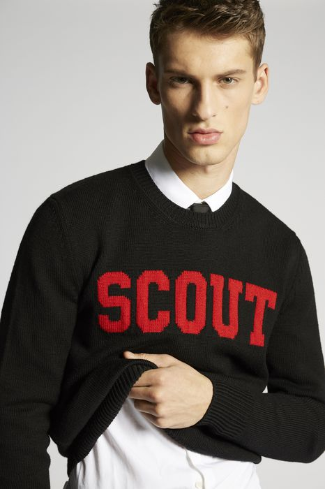 scout wool knit pullover tops & tees Man Dsquared2