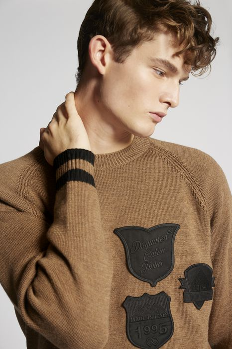 scout patch wool pullover tops & tees Man Dsquared2