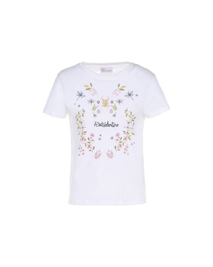 REDValentino T-Shirt Woman PR3MG08F3J6 0BO a
