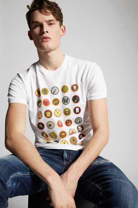 scout stamps t-shirt tops & tees Man Dsquared2