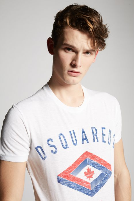 leaf t-shirt top wear Man Dsquared2