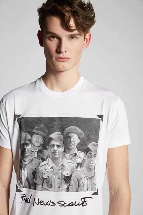 bad news scout t-shirt top wear Man Dsquared2