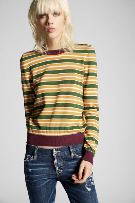 stripes pullover top wear Woman Dsquared2