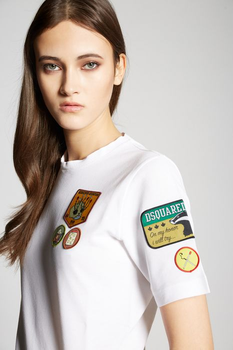 scout patches t-shirt tops & tees Woman Dsquared2