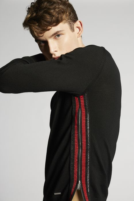 zipped wool pullover tops & tees Man Dsquared2