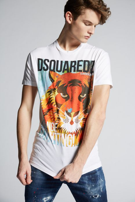 d2 tiger t-shirt tops & tanktops Herren Dsquared2